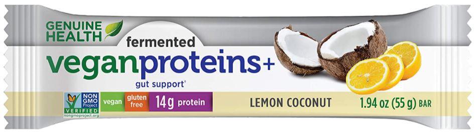 genuine health fermented vegan protein bar
