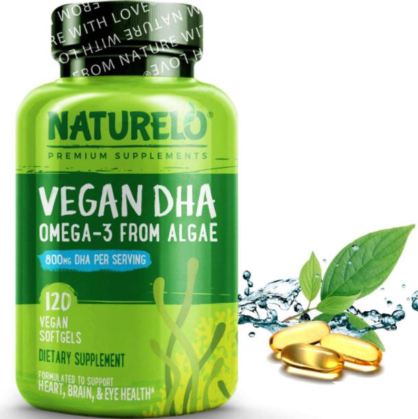 NATURELO Vegan DHA - Omega 3 Oil From Algae