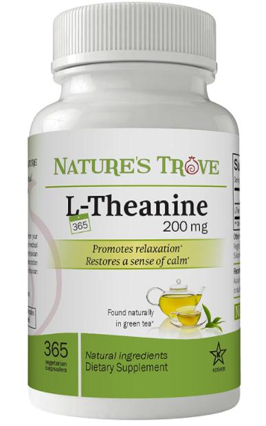 Nature's Trove L-Theanine 200mg Super Value Capsules